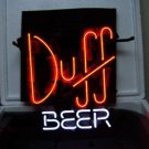 """Brand New Duff Beer Bar Real Glass Tube Neon Light Sign 17""""x 15"""" [High Quality]"""