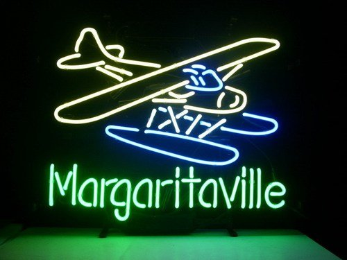 "Brand New Jimmy Buffett's Margaritaville Airplane Beer Neon Light Sign 17""x 15"" [High Quality]"