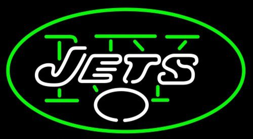"Brand New NFL New York Jets Football Beer Neon Light Sign 16""x 14"" [High Quality]"
