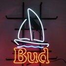 "Brand New Bud Light Bud Sailboat Beer Bar Neon Light Sign 17""x15"" [High Quality]"