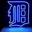 "Brand New MLB Detroit Tigers Beer Bar Pub Neon Light Sign 18""x16"" [High Quality]"