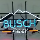 "Brand New Busch Light Mountain Logo Beer Bar Pub Neon Sign 17""x15"" [High Quality]"