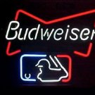 "Brand New Budweiser Beer MLB Major Baseball Beer Bar Neon Light Sign 17""x15"" [High Quality]"