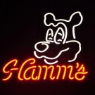 "Brand New Hamm's Dog Beer Brewery Bar Pub Neon Light Sign 18""x16"" [High Quality]"