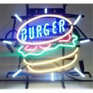 "Brand New Burger Logo Beer Bar Beer Bar Neon Light Sign 16""x 14"" [High Quality]"