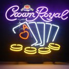 """Brand New Crown Royal Whiskey Casino Poker Cards Beer Neon Light Sign 18""""x 16"""" [High Quality]"""
