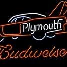 "Brand New BUDWEISER Plymouth Auto Car Dealer Beer Bar Pub Neon Light Sign 22""x17"" [High Quality]"