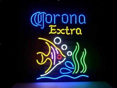 Brand new corona extra tropical fish mexico beer bar pub for Fish neon sign