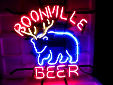 """Brand New BOONVILLE Beer Deer Handcrafted Neon Light Sign 16""""x14"""" [High Quality]"""