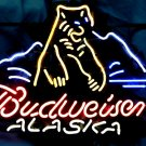 "Brand New Budweiser Alaska Bear Beer Neon Light Sign 16""x15"" [High Quality]"