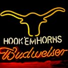 "Brand New Budweiser Hook Em' Horns Beer Neon Light Sign 16""x 14"" [High Quality]"