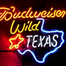 "Brand New BUDWEISER BEER Brewery Wild Texas Neon Light Sign 16""x 14"" [High Quality]"