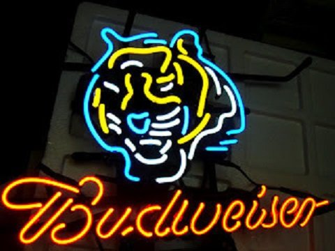 "Brand New Budweiser Beer NFL Cincinnati Bengals Neon Sign 16""x15"" [High Quality]"