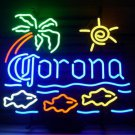 "Brand New Corona Cerveza Fish Neon Light Sign 21""x 19"" [High Quality]"