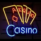 "Brand New Casino Cards Beer Bar Neon Light Sign 16""x14"" [High Quality]"