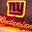 "Brand New NFL New York Giants Budweiser Neon Light Sign 16""x 15"" [High Quality]"