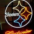 """Brand New NFL Pittsburgh Steelers Budweiser Beer Bar Pub Neon Light Sign 16""""x15"""" [High Quality]"""