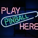 "Brand New Game PINBALL Play Pibball Here Beer Bar Pub Neon Light Sign 16""x 15"" [High Quality]"