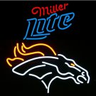 "Brand New NFL Denver Broncos Miller Lite Beer Neon Sign 16""x 15"" [High Quality]"