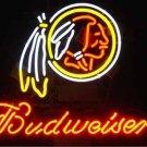 "Brand New NFL Washington Redskins Budweiser Beer Bar Pub Neon Light Sign 16""x14"" [High Quality]"