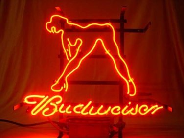 "Brand New Live Nudes Sexy Girl Budweiser Neon Light Sign 16""x 14"" [High Quality]"