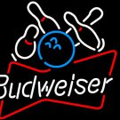 "Brand New Bowling Budweiser Sport Beer Bar Neon Light Sign 16""x 15"" [High Quality]"