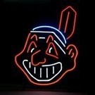 "Brand New MLB Cleveland Indian Baseball Neon Light Sign 17""x 12"" [High Quality]"