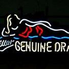 "Brand New Miller Lite Genuine Draft Beer Bar Neon Light Sign 17""x12"" [High Quality]"