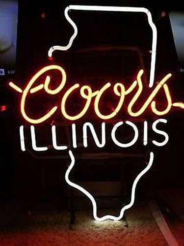 """Brand New Coors Light Illinois Beer Bar Neon Light Sign 16""""x 14"""" [High Quality]"""