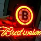 "Brand New BUDWEISER BEER NHL Boston Bruins Beer Bar Neon Light Sign 13""x 9"" [High Quality]"