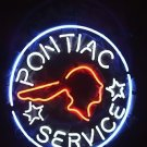 "Brand New Pontiac Service Auto Beer Bar Club Neon Sign 16""x 16"" [High Quality]"