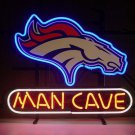 "Brand New NFL Denver Broncos Man Cave Beer Neon Pub Light Sign 18""x 16"" [High Quality]"