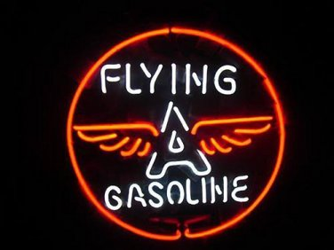 """Brand New Flying A Gasoline Gas Station Neon Light Sign 16""""x16"""" [High Quality]"""