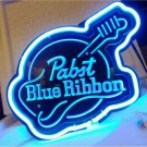 "Brand New Pabst Blue Ribbon Guitar 3D Acrylic Beer Neon Light Sign 12""x 10"" [High Quality]"