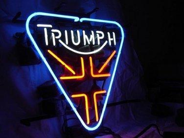 "Brand New Triumph British Motor Beer Bar Neon Light Sign 16""x 14"" [High Quality]"