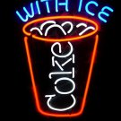 "Brand New Coca Cola Coke With Ice Beer Bar Neon Light Sign 17""x10"" [High Quality]"