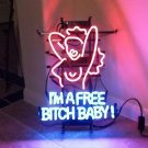 "Brand New I'm A Free Bitch Baby Gaga Lady Beer Bar Neon Light Sign 16""x 14"" [High Quality]"