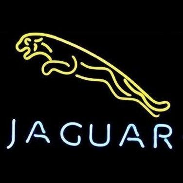 "Brand New Jaguar Logo Yellow Beer Bar Pub Neon Light Sign 16""x14"" [High Quality]"