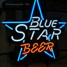 "Brand New Blue Star Beer Bar Neon Light Sign 16""x 14"" [High Quality]"