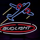 "Brand New Bud Light Airplane Plane Logo Neon Light Sign 16""x 15"" [High Quality]"