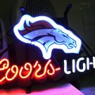 "Brand New NFL Denver Broncos Coors Light Neon Light Sign 14""x 8"" [High Quality]"
