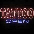 "Brand New Tattoo Open Beer Bar Neon Light Sign 16""x 13"" [High Quality]"
