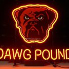 "Brand New Cleveland Browns Dog Dawg Pound NFL Football Neon Light Sign 18""x 16"" [High Quality]"