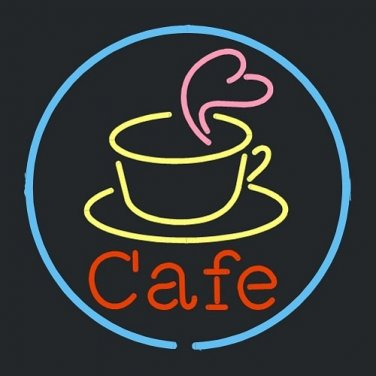 """Brand New Cafe Coffee Cup Beer Bar Neon Light Sign 16""""x 16"""" [High Quality]"""