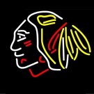 "Brand New Chicago Blackhawk Indian Bar Neon Light Sign 16""x 15"" [High Quality]"