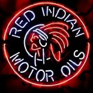 "Brand New Red Indian Motor Oils Beer Bar Club Neon Sign 22""x 22"" [High Quality]"