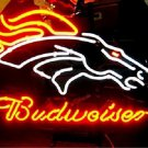 "Brand New Budweiser NFL Denver Bronco Beer Neon Sign 16""x 14"" [High Quality]"