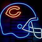 "Brand New Chicago Bears Helmet NFL Football Beer Bar Pub Neon Light Sign 16""x15"" [High Quality]"