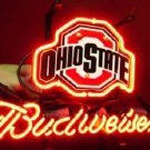 "Brand New Ohio State Budweiser Beer Bar Neon Light Sign 14""x 8"" [High Quality]"