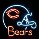 "Brand New Chicago Bears Helmet NFL Football Beer Bar Neon Light Sign 18""x16"" [High Quality]"